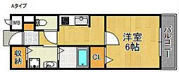 フリージア[1階]の間取り