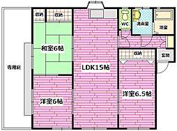 広島県広島市安芸区矢野南3丁目の賃貸アパートの間取り