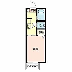 ハイツ フラ−リシュII 108[1階]の間取り
