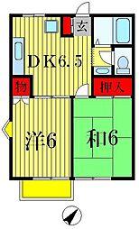 千葉県松戸市牧の原の賃貸アパートの間取り