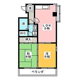 フローレスチェリー[4階]の間取り