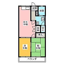 二の丸ハイム[3階]の間取り