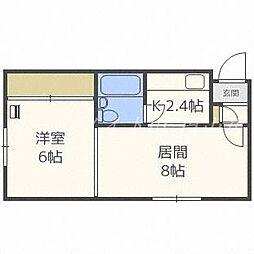 北海道札幌市中央区北六条西26の賃貸マンションの間取り