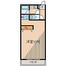 ドマーニ1[3階]の間取り