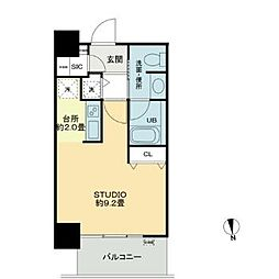 Osaka Metro長堀鶴見緑地線 西大橋駅 徒歩6分の賃貸マンション 7階1Kの間取り