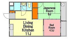 広島県広島市佐伯区五日市中央7丁目の賃貸マンションの間取り
