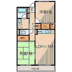 フォレスター2[2階]の間取り