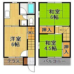 [テラスハウス] 千葉県流山市加2丁目 の賃貸【/】の間取り
