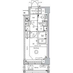 JR総武線 新小岩駅 徒歩12分の賃貸マンション 1階1Kの間取り