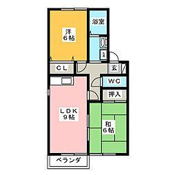 セジュールK's[1階]の間取り