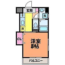 愛媛県松山市空港通1丁目の賃貸マンションの間取り