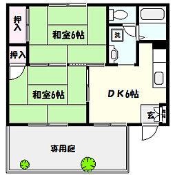 兵庫県神戸市東灘区深江本町1丁目の賃貸アパートの間取り