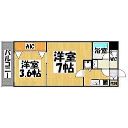 プレスタイル 博多駅南[6階]の間取り