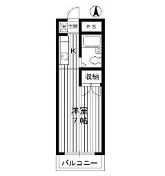 東京都新宿区西落合の賃貸マンションの間取り