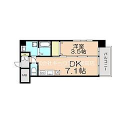 (仮称)アンフィニ17マローネ 9階1DKの間取り