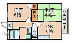 メゾングランピア[1階]の間取り