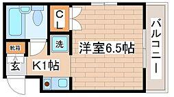 兵庫県神戸市灘区篠原中町4丁目の賃貸マンションの間取り