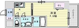 ファーストフィオーレ江坂グレイス 5階1Kの間取り