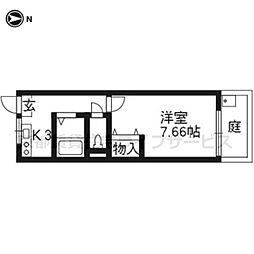 クレセントYANAGI[107号室]の間取り