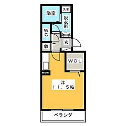 愛知県名古屋市千種区内山3丁目の賃貸アパートの間取り