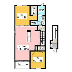 バンビーノ[2階]の間取り