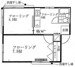 安藤荘[2階]の間取り