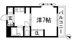 兵庫県西宮市仁川百合野町の賃貸アパートの間取り