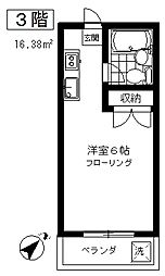 東京都世田谷区下馬1丁目の賃貸マンションの間取り