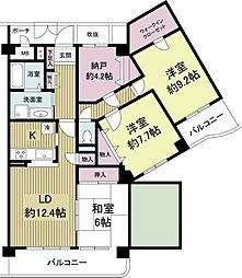 KDXレジデンス夙川ヒルズ 2番館(旧オクトス夙川)[0501号室]の間取り