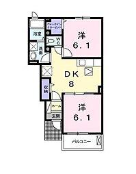 フィデール A棟[1階]の間取り