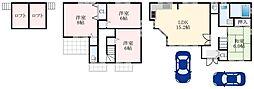 南海高野線 萩原天神駅 3.6kmの賃貸一戸建て 1階4SLDKの間取り