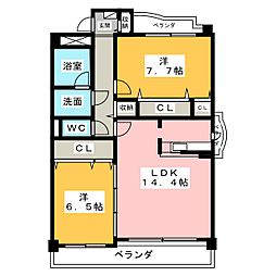 レーベンラウム[7階]の間取り