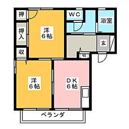 M・ナイアガラ B[2階]の間取り
