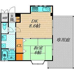 ラ・フォーレ千林II[1階]の間取り