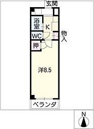 ヤングビレッジMAKI[4階]の間取り