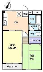 メリーワールド津田沼[1階]の間取り