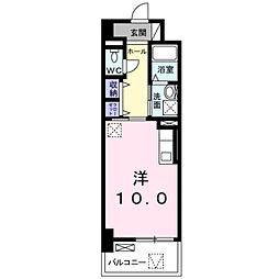 ラインスター三萩野[2階]の間取り