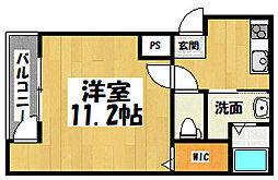 大阪府大阪市城東区永田4丁目の賃貸アパートの間取り