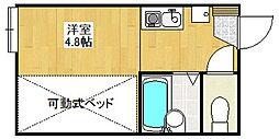 埼玉県さいたま市大宮区北袋町1丁目の賃貸アパートの間取り
