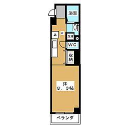 リテラ竹屋町[3階]の間取り