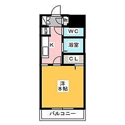 メゾンエルブロック[2階]の間取り