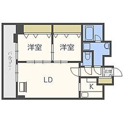 北海道札幌市中央区北四条東2丁目の賃貸マンションの間取り