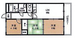 田中マンションA棟[203号室号室]の間取り
