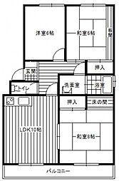 ファミール古江[2階]の間取り