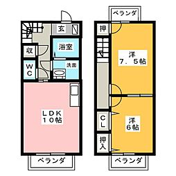 ベルテ斉東[2階]の間取り
