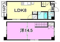 [テラスハウス] 愛媛県松山市小坂4丁目 の賃貸【愛媛県 / 松山市】の間取り