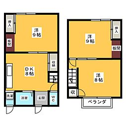 [一戸建] 愛知県海部郡蟹江町大字須成字門屋敷上 の賃貸【/】の間取り