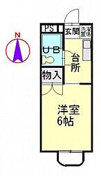 ソレアード井口[1階]の間取り