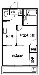 第一サンマンション[305号室]の間取り