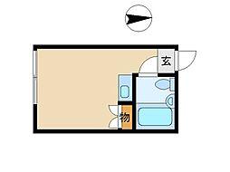 東京都世田谷区駒沢3丁目の賃貸アパートの間取り